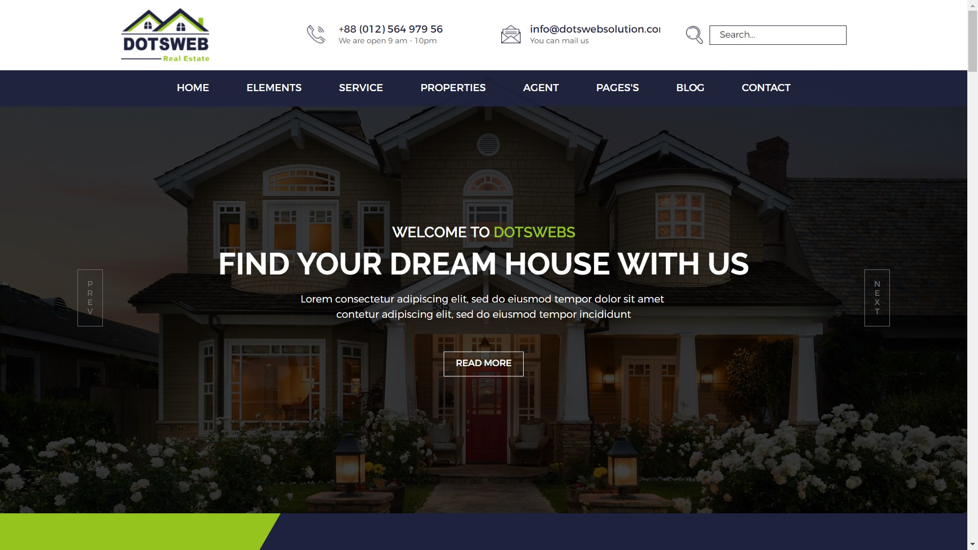 Real Estate1 Dots Websolution